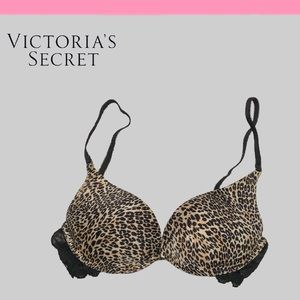 NWOT VS Cheetah Lace Back Miracle Bra Push Up
